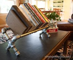 The Power Tool Challenge girls are back with favorite projects. I'm sharing my Industrial Pipe Bookshelf tutorial. See more favorite projects in this post. Diy Industrial Interior, Industrial Farmhouse Decor, Industrial Interior Design, Industrial Pipe, Industrial House, Industrial Furniture, Industrial Bedroom, Industrial Style, Vintage Industrial