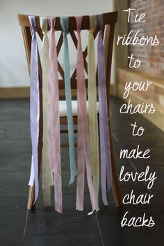 Ribbons For Wedding Chairs ~ Wedding Decoration Of The Week