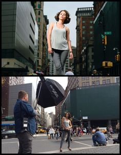 easy tricks to Take Locations from Boring to Brilliant BY ZACH & JODY  We first started out by having her stand just at the top of the few steps we had to work with. This helped get her higher up (without having to shoot up as high at her) and then we just had the tops of people's heads in our shot.