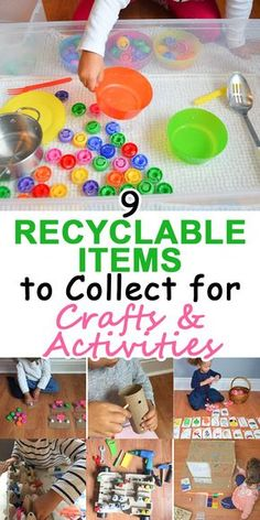 The Top 9 Recyclable Items to Collect for Crafts and Activities – HAPPY TODDLER PLAYTIME