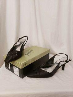 f5e334f29f01 Black Sling back pointed toe Jacqueline Ferrar womens 8.5B pumps Sarah  style  fashion