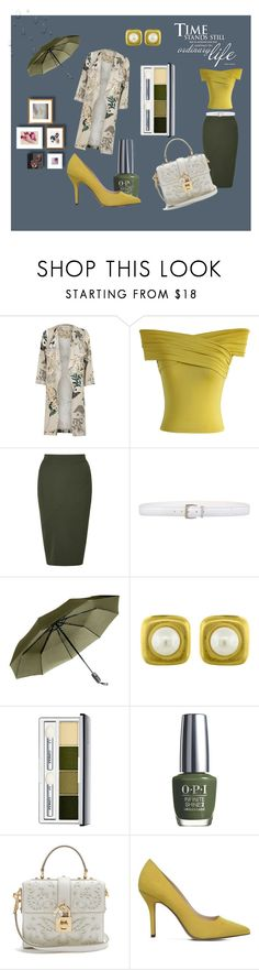 """""""Autumn fashion"""" by e-memagic ❤ liked on Polyvore featuring River Island, Chicwish, Miss Selfridge, Orciani, Angela Cummings, Clinique, OPI, Dolce&Gabbana and Nine West"""