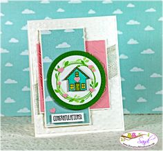 You Brighten My Day for Mojo Monday Challenge (Stamping With Sandi - Sandi MacIver, Stampin' Up! New Home Cards, Happy New Home, Congratulations Card, Card Making Inspiration, Card Tags, Creative Cards, Diy Cards, Stampin Up Cards, Thank You Cards
