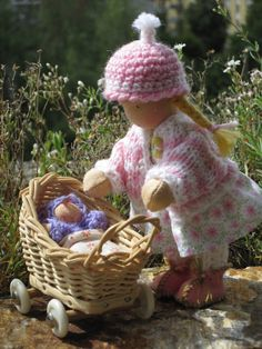 ...playing with her doll by Puppenliesl, via Flickr