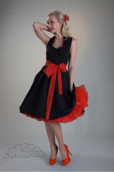 Kleid TRACY - sie SETRINO® Variante in schwarz mit rot und Schleife