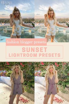 The sunset collection is a set of warm and airy lightroom presets that are perfect for fashion bloggers to spice up and improve their photography and photo editing skills for their blog! #fashionbloggers #fashionblogging #fashionphotography #photoediting #bloggingtips