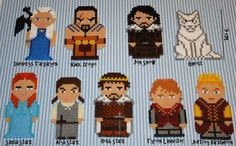 Game of Thrones magnets hama perler bead sprites by DecorarteLeon