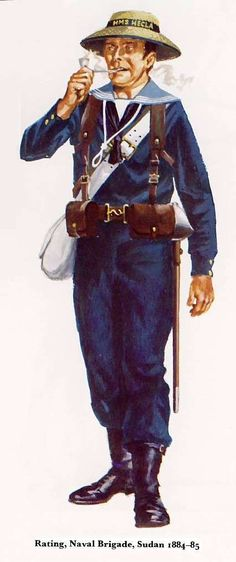naval brigade uniform - Google Search British Army Uniform, British Uniforms, Navy Uniforms, Military Uniforms, Military Art, Military History, South African Tribes, Boxer Rebellion, Man Of War