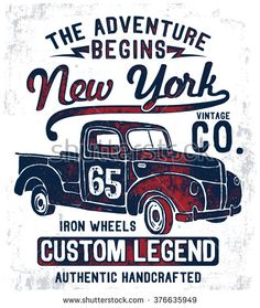 Vintage Illustrations Vintage pick up illustration , vectors. Art Vintage, Vintage Signs, Vintage Posters, Pick Up, Garage Signs, Retro Logos, Car Posters, Old Signs, Car Drawings