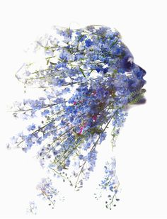 flowers and art, can it get any better? Creative Photography, Art Photography, Editorial Photography, Blend Images, Double Exposure Photography, Multiple Exposure, Foto Art, Pics Art, Female Images
