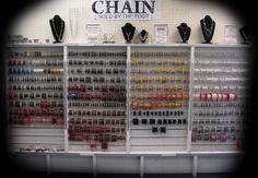 Beads Galore chain selection!