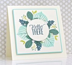 Hello There Card by Michelle Leone for Papertrey Ink (February 2017)