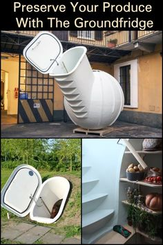 The Groundfridge root cellar is a piece of technology that is sure to leave you amazed! : The Groundfridge root cellar is a piece of technology that is sure to leave you amazed! Backyard Projects, Outdoor Projects, Home Projects, D House, Homestead Survival, Permaculture, Sustainable Living, Food Storage, Pantry Storage
