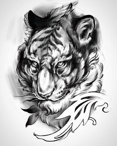 Meow for next week. Loving the fluidity in this new technology.... #tigerattoo #cattattoo #procreate #onthebandwagon #iactuallyreallylikethisband