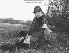 Author Ben Ames Williams out hunting with his #dogs Mac and Buster. Williams (1889-1953), a graduate of Dartmouth, married Florence Tafton Talpey of York in 1912. Many of his short stories and novels are set in Maine, where he summered. Item #1501 on Maine Memory Network