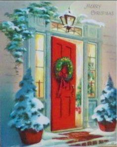 Red door for Christmas.