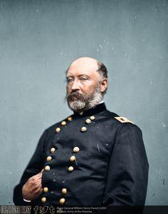 Major General William Henry French (USV) William Henry French was born in Baltimore, Maryland on 13 January He graduated from the United States. Battle Of Antietam, Unknown Soldier, Union Army, Major General, Civil War Photos, Military Men, Military Equipment, Us History, Friends Tv