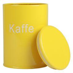 Gul kaffedåse - fulfilled