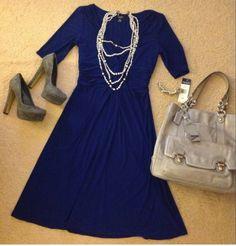Royal blue and grey