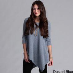 Grace Cashmere Women's Cashmere Long Sleeve Tunic | Overstock.com
