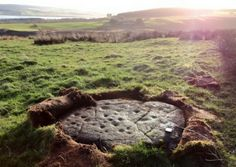 'Largest' Scottish ancient artworks revealed - A RETIRED silversmith has uncovered the largest collection of ancient rock art ever found in the Highlands on a remote hill overlooking the Cromarty Firth....pictured - One of the 28 cup marked stones found on Swordale Hill, Evanton, some of which measure 10ft across.