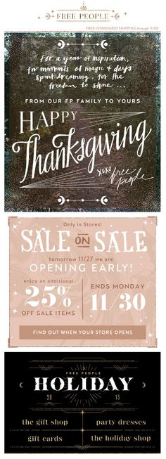 Thanksgiving from Free People