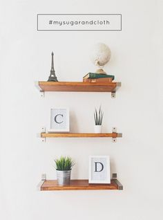 DIY Ikea hack shelves, and get featured on Sugar and Cloth!