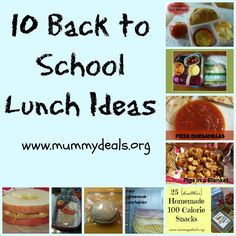 10 Back to School Lunch Ideas - Mummy Deals will save you time and money!  #recipes