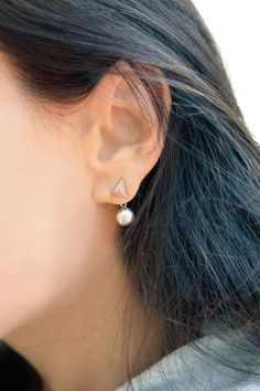 ICONERY | Janis Savitt Spike & Ball Earrings