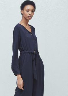 Belt gown - Dresses for Woman | MANGO