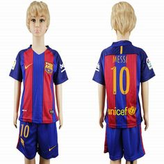 9b929cec338 ... and 2016 2017 barcelona club messi 10 kid red blue soccer jerseys home