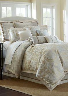 Waterford GoldPlatinum Olivette Queen Comforter Set