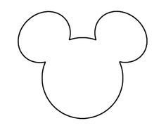 mickey mouse printables - for invites Mickey Mouse Stencil, Mickey Mouse Template, Mickey Mouse Invitation, Mickey Mouse Clubhouse, Mickey Mouse Head, Mouse Ears, Camisa Do Mickey Mouse, Mickey Mouse Shirts, Mickey Birthday