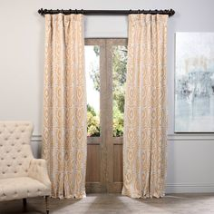 "Amazon.com: Half Price Drapes BOCH-KC105A-84 Blackout Curtain, Pemba Gold, 50"" x 84"": Home & Kitchen"