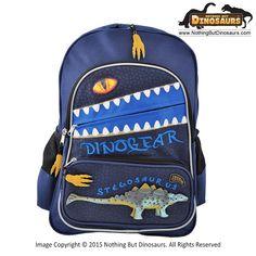 Dinosoles DinoGear 3D Stegosaurus Dinosaur Backpack with Blinking Lighted Eye - School, Outdoor Play & Everyday Dino Prehistoric Backpack for Kids, Children, Pre-Teens, Boys & Girls
