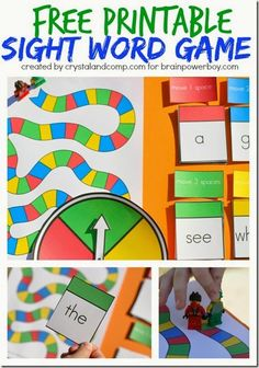 Sight Words - What a fun sight word game for kids from preschool and kindergarten to grade. Perfect for homeschoolers or for extra practice after school. Sight Word Practice, Sight Word Games, Sight Word Activities, Reading Activities, The Words, Kindergarten Reading, Teaching Reading, Guided Reading, Word Games For Kids