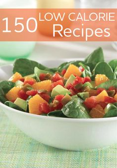 Avocado, Orange and Spinach Salad with Zesty Tomatoes. Fresh spinach salad recipe combined with avocado, chopped orange and zesty tomatoes – perfect as a side dish or main course Low Calorie Recipes, Calorie Diet, Healthy Dinner Recipes, Diet Recipes, Cooking Recipes, Uk Recipes, Healthy Dinners, Delicious Recipes, Vegetarian Recipes