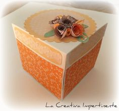 La Creativa Impertinente: Tutorial Torta in cartoncino per auguri matrimonio - Wedding Cake Exploding Box