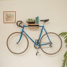 Oak and Steel Minimalist Bicycle Bike Wall   Etsy Bike Storage Small Space, Bike Wall Storage, Bike Storage Apartment, Indoor Bike Storage, Bike Shelf, Small Storage, Indoor Bike Rack, Bike Hanger Wall, Bicycle Hanger