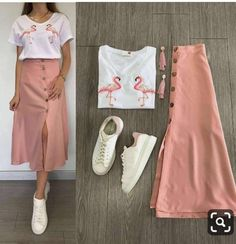 korean terno top and skirt. Specifications of korean terno top and sk Mode Outfits, Skirt Outfits, Trendy Outfits, Summer Outfits, Terno Casual, Korean Street Fashion, Types Of Dresses, Classy Dress, Fashion Dresses