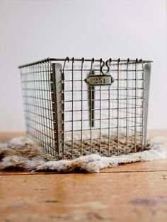 vintage wire baskets for storage // supplies // diapies, etc for em