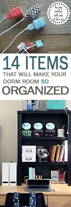 14 Items That Will Make Your Dorm Room SO Organized-How to Organize Your Dorm Room, Dorm Room Organization Tips, How to Organize Tiny Bedrooms, Quick Organization Hacks, How to Keep Your Dorm Room Organized, College Living, College Hacks, Dorm Living Tips