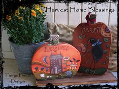 My Harvest Home Blessings Painted by by PaintingWithFriends