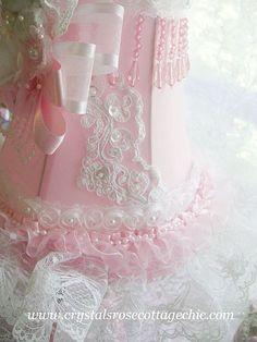 pink crystal shabby chic things | Shabby Pink Vintage Cherub Lamp