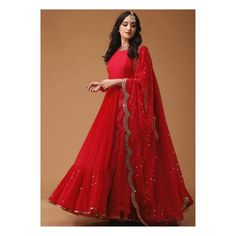 Items similar to Party Wear Red Color Designer Anarkali Suit With Mirror Work gown indian gowns on Etsy Designer Kurtis, Designer Gowns, Designer Anarkali Dresses, Designer Sale, Designer Party Wear Dresses, Indian Gowns Dresses, Pakistani Dresses, Indian Anarkali, White Anarkali