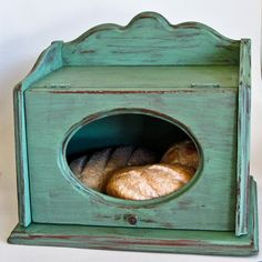 Wooden Bread Box Shabbily Aged and Distressed by olliesfinethings, $51.00