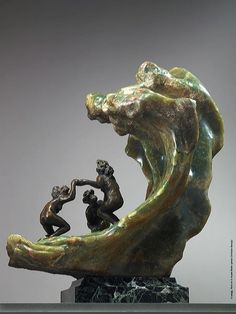 Camille Claudel, The Wave, 1897, onyx and bronze on marble base, Rodin Museum, Paris