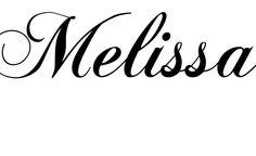 Tatuagem do nome Melissa utilizando o estilo ChopinScript Regular