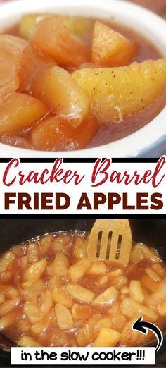 Crockpot Fried Apples, Fried Apples Recipe Easy, Slow Cooker Apples, Cooked Apples, Crokpot Recipes, Apple Recipes Easy, Fruit Recipes, Fall Recipes, Cooking Recipes
