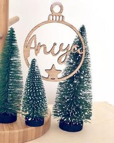 Personalised name baubles – Hannah Joy Designs Christmas Baubles, Christmas Gifts, Christmas Ideas, Wooden Names, Gifts For New Parents, Little Ones, Place Card Holders, Joy, Young Children
